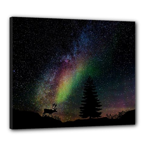 Starry Sky Galaxy Star Milky Way Canvas 24  x 20