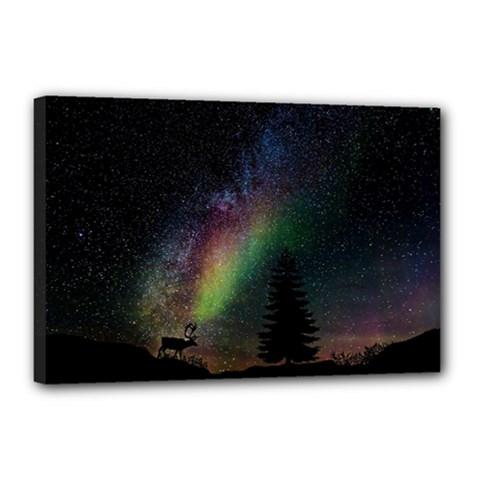 Starry Sky Galaxy Star Milky Way Canvas 18  x 12