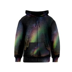 Starry Sky Galaxy Star Milky Way Kids  Zipper Hoodie