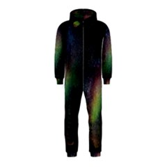 Starry Sky Galaxy Star Milky Way Hooded Jumpsuit (kids)
