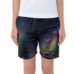 Starry Sky Galaxy Star Milky Way Women s Basketball Shorts
