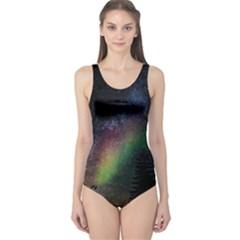 Starry Sky Galaxy Star Milky Way One Piece Swimsuit