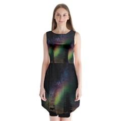 Starry Sky Galaxy Star Milky Way Sleeveless Chiffon Dress