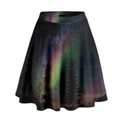 Starry Sky Galaxy Star Milky Way High Waist Skirt