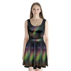 Starry Sky Galaxy Star Milky Way Split Back Mini Dress