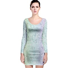 The Background Wallpaper Mosaic Long Sleeve Bodycon Dress
