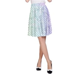 The Background Wallpaper Mosaic A-Line Skirt