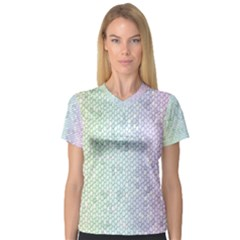 The Background Wallpaper Mosaic Women s V-Neck Sport Mesh Tee