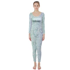 The Background Wallpaper Mosaic Long Sleeve Catsuit