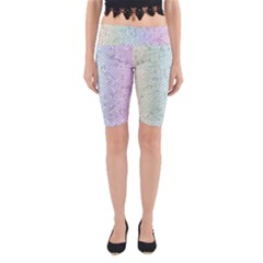 The Background Wallpaper Mosaic Yoga Cropped Leggings
