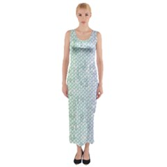 The Background Wallpaper Mosaic Fitted Maxi Dress