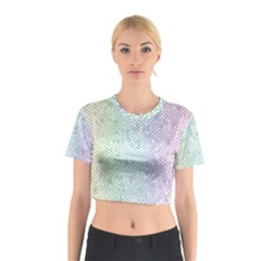 The Background Wallpaper Mosaic Cotton Crop Top