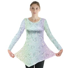 The Background Wallpaper Mosaic Long Sleeve Tunic