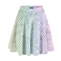 The Background Wallpaper Mosaic High Waist Skirt