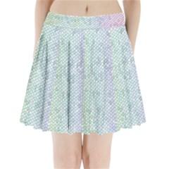 The Background Wallpaper Mosaic Pleated Mini Skirt