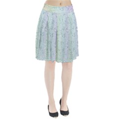 The Background Wallpaper Mosaic Pleated Skirt