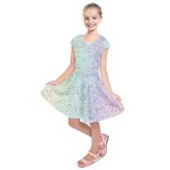 The Background Wallpaper Mosaic Kids  Short Sleeve Dress
