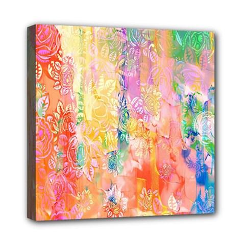 Watercolour Watercolor Paint Ink  Mini Canvas 8  x 8