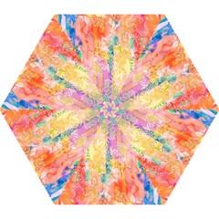 Watercolour Watercolor Paint Ink  Mini Folding Umbrellas