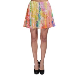 Watercolour Watercolor Paint Ink  Skater Skirt