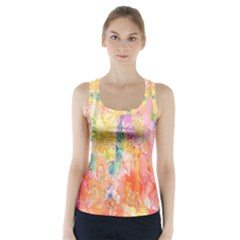 Watercolour Watercolor Paint Ink  Racer Back Sports Top