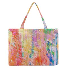 Watercolour Watercolor Paint Ink  Medium Zipper Tote Bag
