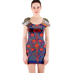 Tree Of Life Short Sleeve Bodycon Dress