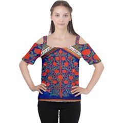 Tree Of Life Women s Cutout Shoulder Tee