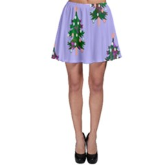 Watercolour Paint Dripping Ink  Skater Skirt