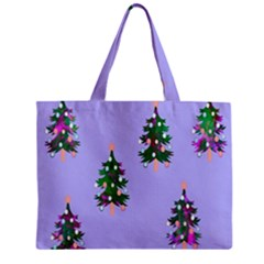 Watercolour Paint Dripping Ink  Zipper Mini Tote Bag