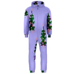 Watercolour Paint Dripping Ink  Hooded Jumpsuit (men)