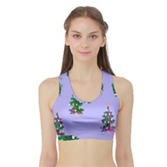 Watercolour Paint Dripping Ink  Sports Bra with Border