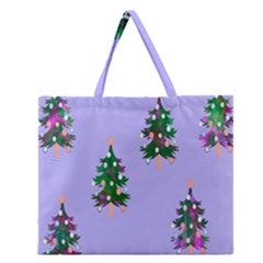 Watercolour Paint Dripping Ink  Zipper Large Tote Bag
