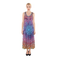 Tile Background Pattern Texture Sleeveless Maxi Dress