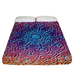 Tile Background Pattern Texture Fitted Sheet (king Size)