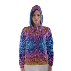 Tile Background Pattern Texture Hooded Wind Breaker (Women)
