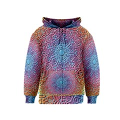 Tile Background Pattern Texture Kids  Zipper Hoodie