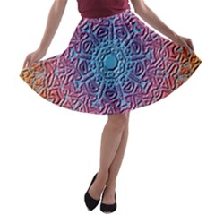 Tile Background Pattern Texture A-line Skater Skirt