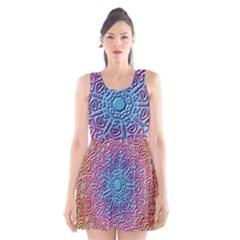 Tile Background Pattern Texture Scoop Neck Skater Dress