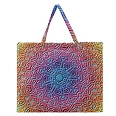 Tile Background Pattern Texture Zipper Large Tote Bag