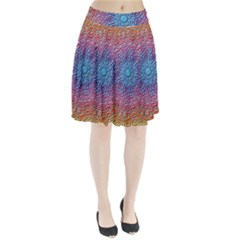 Tile Background Pattern Texture Pleated Skirt