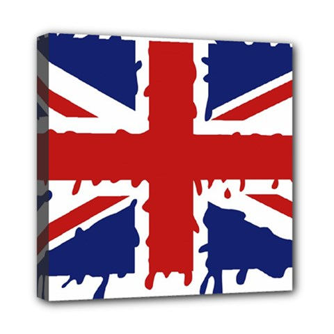 Uk Splat Flag Mini Canvas 8  x 8