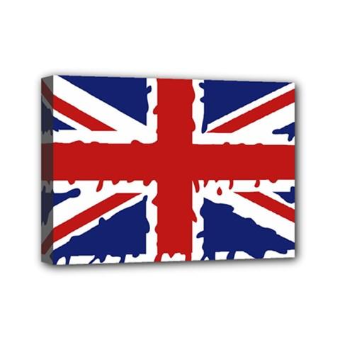 Uk Splat Flag Mini Canvas 7  x 5