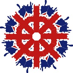 Uk Splat Flag Hook Handle Umbrellas (Medium)