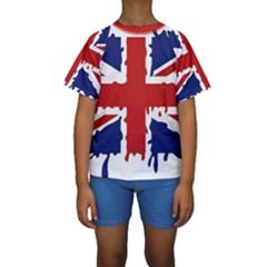 Uk Splat Flag Kids  Short Sleeve Swimwear