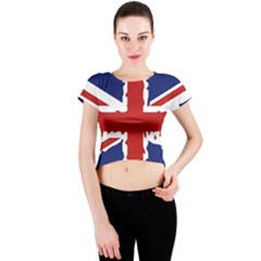 Uk Splat Flag Crew Neck Crop Top