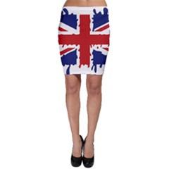 Uk Splat Flag Bodycon Skirt