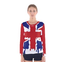 Uk Splat Flag Women s Long Sleeve Tee