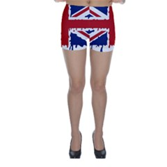 Uk Splat Flag Skinny Shorts