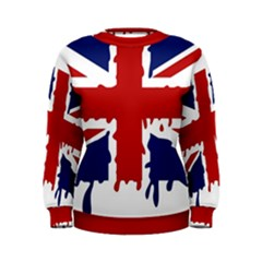 Uk Splat Flag Women s Sweatshirt